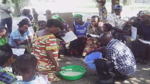 Making cassava flour safe using the wetting method